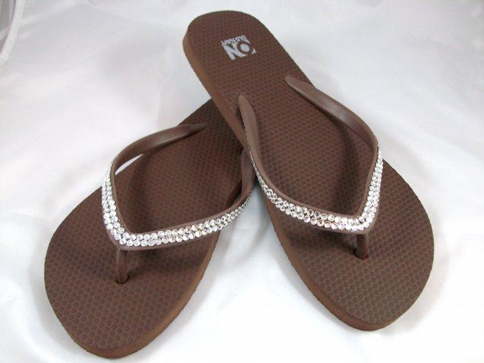 Women's Brown Flip Flops - Size 8