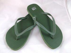 Women's Army Green Flip Flops - Size 8