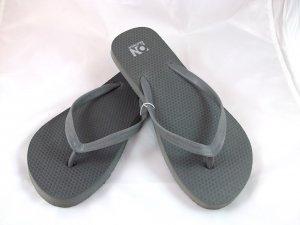 Women's Dark Gray Flip Flops - Size 6