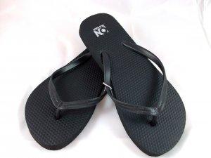 Women's Black Flip Flops - Size 9
