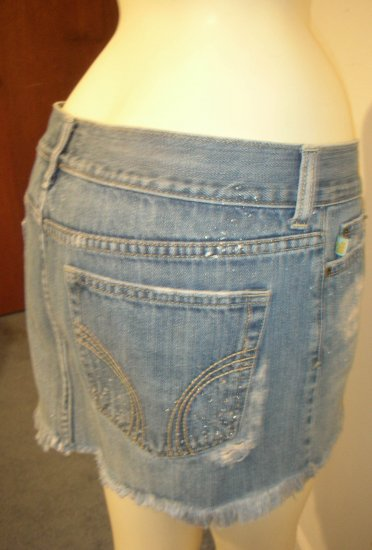 Hollister Destroyed  Denim Skirt -Sz 7