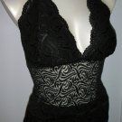 bebe - Black Lace Halter