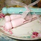 Vintage Clothespins Pink Rosebuds