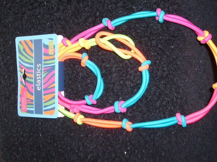 3 Piece Set  Neon colored head band and pony tail
