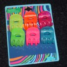 Neon colored Small hair clips