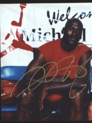 Michael Jordan Original Autographed photo
