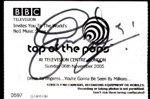 Snow Patrol Jonny Quinn Original autograph in a TOPT