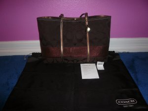 ***Authentic Bronze/Brown Coach Purse NEW!***