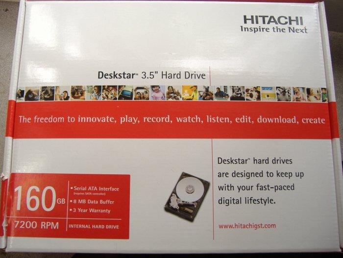 160GB SATA II Hitachi Deskstar 3GB/S Hard Drive