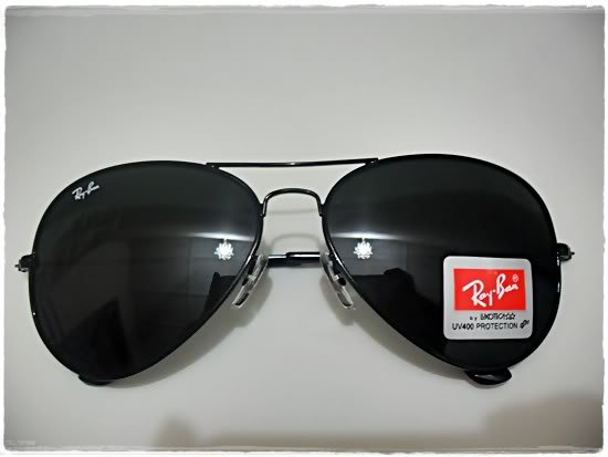Ray. ban Aviator RB 3025 BLACK Sunglasses 58mm MEDIUM
