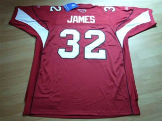 EDGERRIN JAMES #32 Red Jersey Size 56