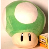 Super Mario Brothers 1-UP Mushroom Green Large Plush