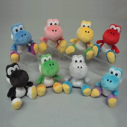 Official Nintendo Color Yoshi Plush Complete Set of 8