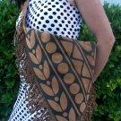 Virgil Ortiz Hand Painted Native American Design Couture Handbag