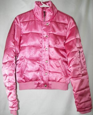 Juicy Couture Puffy Pink  Down Jacket VIVA La JUICY! SZ M