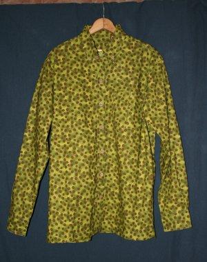 men's casual long-sleeve button-down shirt: coffee beans