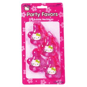 HELLO KITTY BUBBLE NECKLACE FAVORS