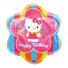 HELLO KITTY MYLAR BALLOON FLORAL (18IN.)
