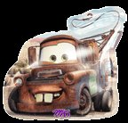 DISNEY CARS TOW MATER SHAPED MYLAR BALLOON(26IN)