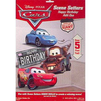 CARS HAPPY BIRTHDAY SCENE SETTER ADD ON