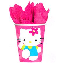 HELLO KITTY FLOWER FUN HOT/COLD CUP(9OZ)