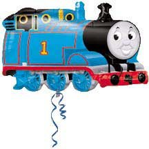 THOMAS THE TANK SHAPED MYLAR BALLOON