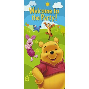 POOH & FRIENDS DOOR BANNER