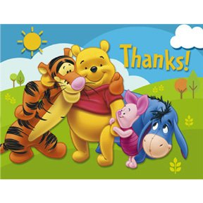 POOH & FRIENDS THANK YOU NOTE