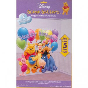 POOH HAPPY BDAY SCENE SETTER ADD ON