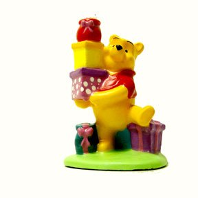 POOH WITH PRESENTS CANDLE