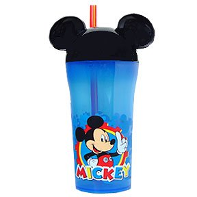 MICKEY MOUSE 10OZ TUMBLER W/STRAW