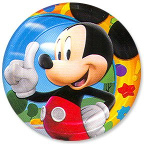 MICKEY'S CLUBHOUSE DESSERT PLATE (7IN.)