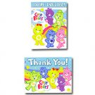 CARE BEARS HAPPY DAY INVITE/THANK YOU