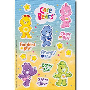 CARE BEARS HAPPY DAY STICKERS