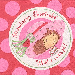 STRAWBERRY SHORTCAKE BEVERAGE NAPKIN