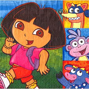 DORA & FRIENDS LUNCHEON NAPKIN
