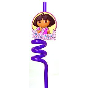 DORA EXPLORER SOUVENIR CURLY STRAW