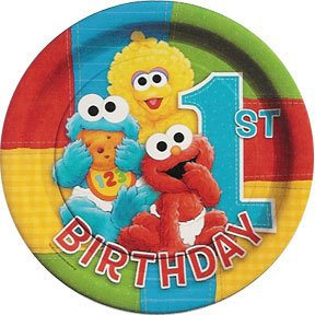 SESAME 1ST BDAY DINNER PLATE (9IN.)