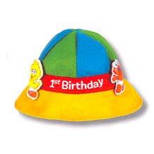 SESAME 1ST BDAY FELT HAT