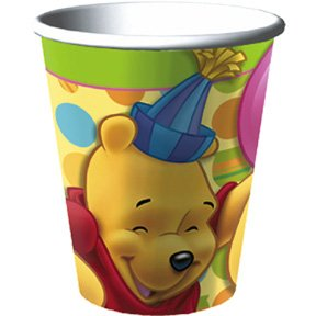 POOH'S FIRST BDAY HOT/COLD CUP (9OZ.)