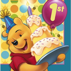 POOH'S FIRST BDAY LUNCHEON NAPKIN