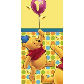POOH'S FIRST BDAY TABLECOVER