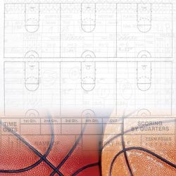"Art Warehouse Basketball Collection Paper 12""X12"""