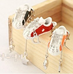 T0063 - Silver Chain Shoe Phone Strap
