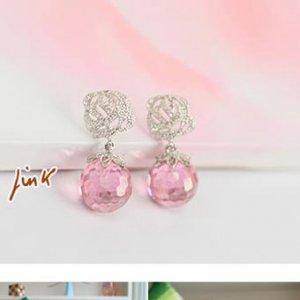 E0098 - Rose Bud Earrings (Pink)