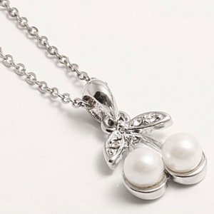 C0106 - Pearl Cherry Necklace