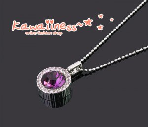 C0107 - Amethyst Crystal Necklace