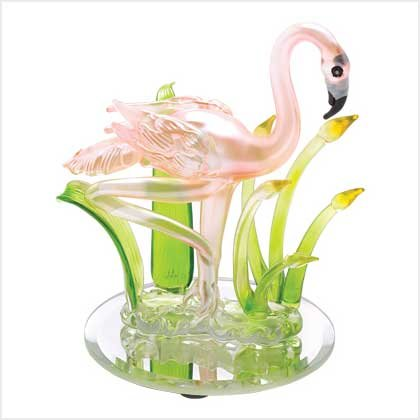 Art Glass Flamingo Figurine