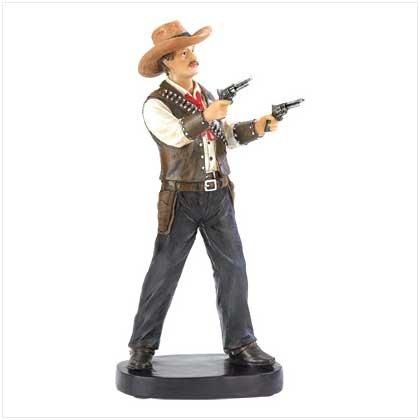 Wild West Gun Slinger Statue