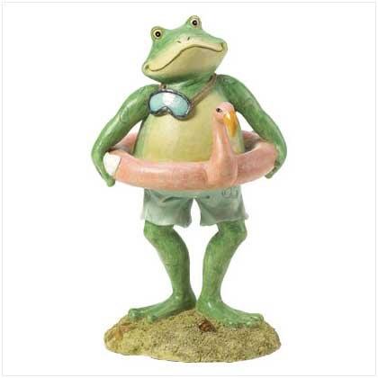 Frog Swimmer Statue